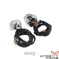 1 Pair Handlebar Control Switch Housing Kit for Harley Davidson 96-2013 XLH1200