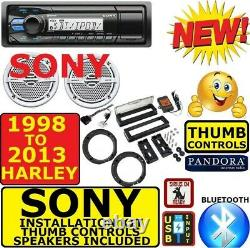 1998-2013 HARLEY MARINE BLUETOOTH AM/FM USB RADIO STEREO With SPEAKERSOPT XM