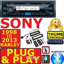 98-13 HARLEY PLUG & PLAY MARINE BLUETOOTH USB RADIO STEREO With OPT SIRIUSXM
