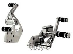 Billet Chrome Forward Controls 5/8 Bore Harley Davidson Softail 1986-1999 Custom