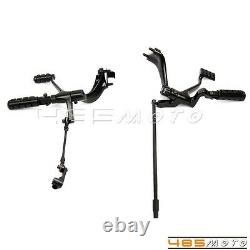Black Forward Controls Kit Levers Pegs Linkage For Harley Sportster 2014-2016