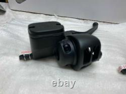 Black Handlebar Controls Ironhorse Hydraulic Clutch Harley 96-06 Chopper NEW