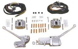 Black Handlebar Controls With Wires Switches Shovelhead Ironhead FL FX XL