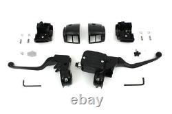 Contour Style Handlebar Control Kit Black fits Harley-Davidson