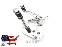 EXTended 3inch Billet Chrome Forward Controls 5/8 Bore Harley Softail 1986-1999