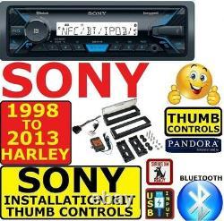FITS 1998-2013 HARLEY MARINE BLUETOOTH AM/FM USB RADIO STEREO With OPT. SIRIUSXM