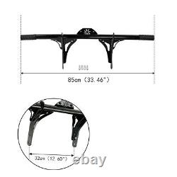 Front Black Crash Bar Protector For Harley Davidson Dyna With Mid Control 06-17