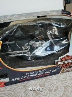 HARLEY DAVIDSON Black Fatboy Large Scale Motorcycle Radio Control 6.0V RC NEW