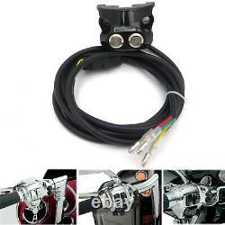 HTTMT Black Motorcycle Handlebar Air Suspension Control Kit For Harley Davidson
