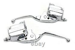 Handlebar Control Kit Chrome with Hydraulic Clutch, for Harley Davidson, by V-Twin