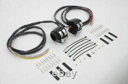 Handlebar Control Switch Housing Kit Black for Harley Davidson by V-Twin