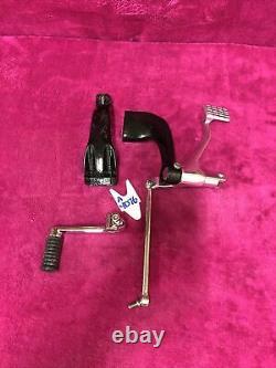 Harley 2004-13 Sportster Mid Controls set foot peg mount bracket brake pedal Oem