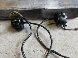Harley Davidson Black Handlebar Controls Wired Switch Housings, Pair (l And R)