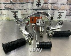 Harley Davidson Fxr 1982-1994 MID Foot Control Package Chrome/polished Nice Y95