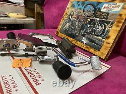 Harley Shovelhead Mid Control Foot Peg Mount Left Right Shift Brake Pedal Set Fx