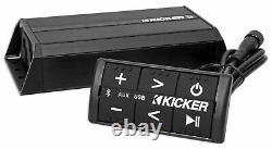 Kicker 10PS52504 5.25 Harley Davidson Motorcycle Speakers+Bluetooth Amp+Control