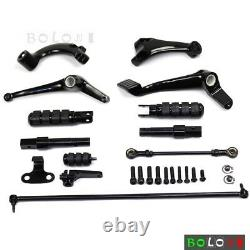 Motorcycle Forward Controls Footpegs Shift Peg Kit For Harley Davidson Sportster