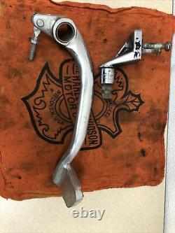 OEM Harley Davidson FXR Mid Control Brake Pedal, Footpeg and Mount