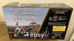 Rare 14 Scale Huge Radio Control Harley Davidson Fatboy Motorcycle R/C Retired