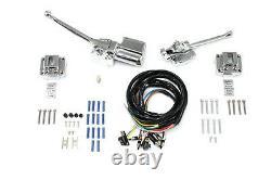 Replica 1972-81 Harley Davidson FL XL FX Handlebar Control Kit Chrome