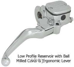 Single Disc Master Cylinder Handlebar Controls 96 2005 Harley 9/16 Softail Dyna