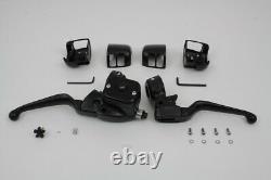 Smooth Contour Handlebar Control Kit Black for Harley Davidson by V-Twin